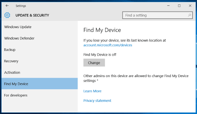 How to Enable Find My Device - Windows 10