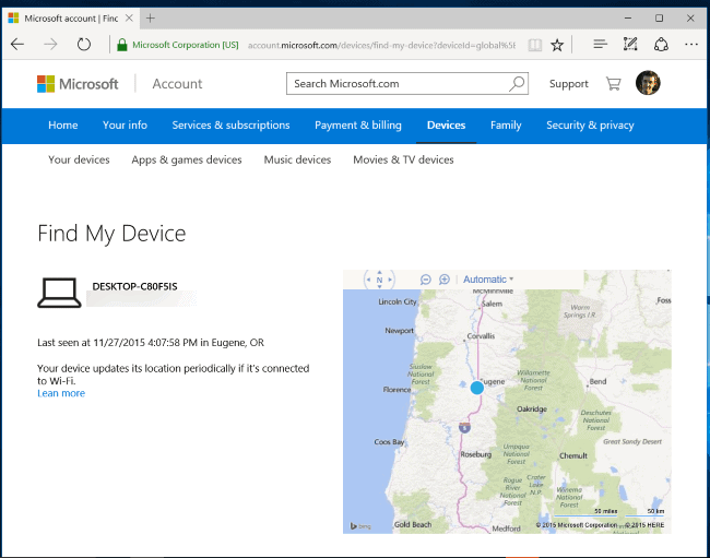 Microsoft Find My Device