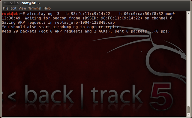 Generating and Injecting ARP Packets using Backtrack 5