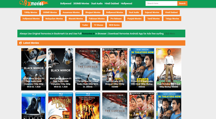 9xmovies - Download Bollywood and Hollywood Dubbed Movies in Hindi - Techorhow