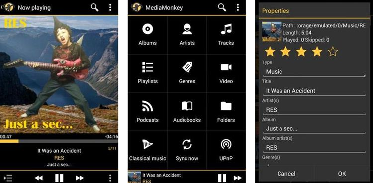 MediaMonkey Best Music Player For Android