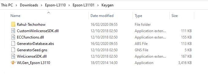 Epson L3110 License Key