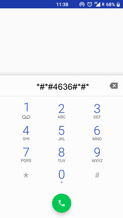 Accessing Android Engineering Mode Through Phone Dialer