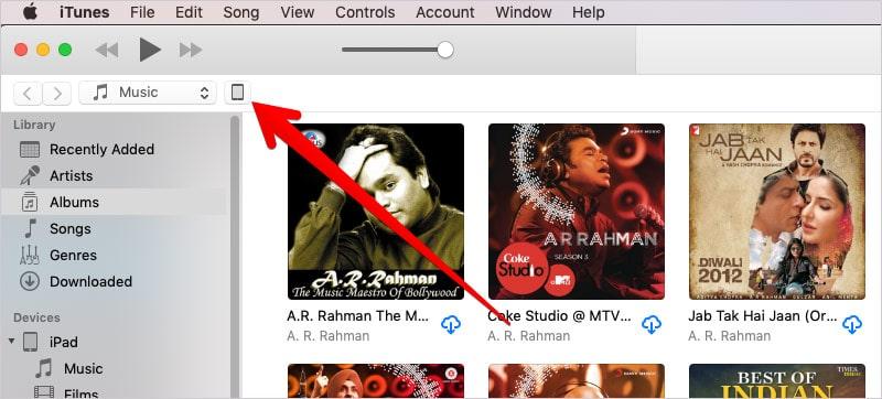 Restore iPad using iTunes