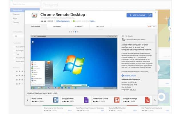 Chrome Remote Desktop - Teamviewer Alternatives