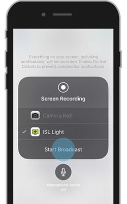 Control iPhone from PC using ISL Light App