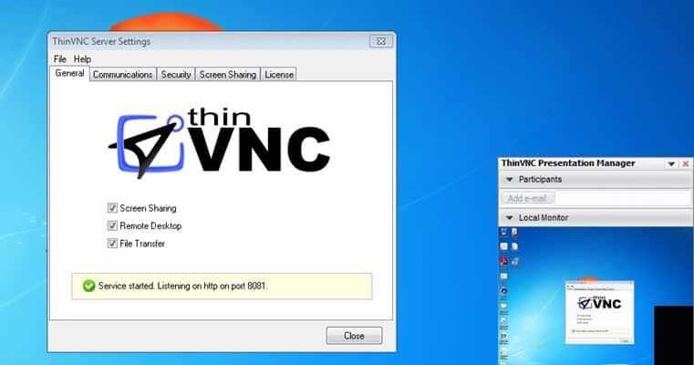 Thin VNC - VNC server