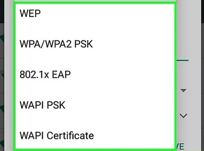 Check WiFi Network Security Type