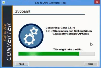 Convert Exe File to APK files