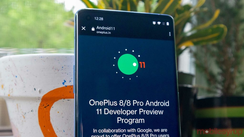 OnePlus 8/8 Pro Android 11 Beta Developer Preview