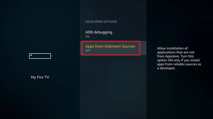 Enable App from Unknown Sources in Firestick