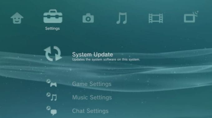 Update PS3 Firmware with USB storage