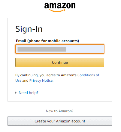 Amazon Sign in