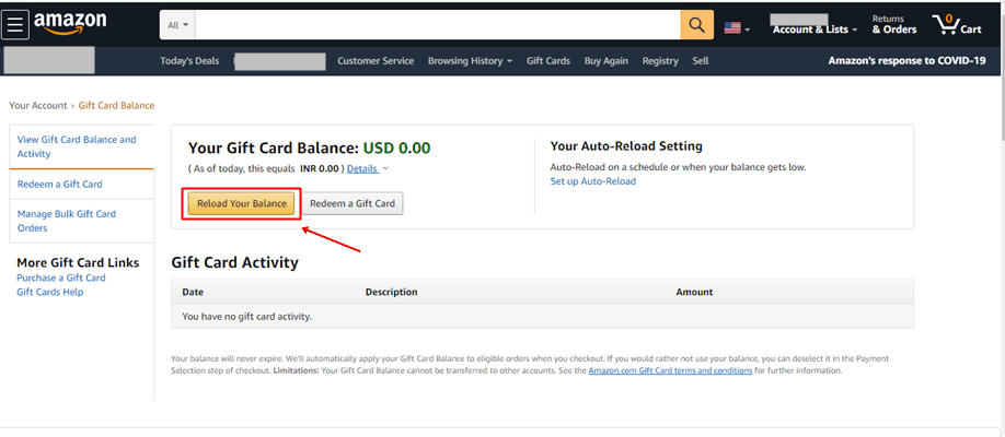 Check Amazon Gift Card Balance