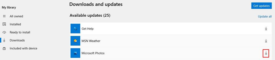 Update Microsoft Photos in Windows 10