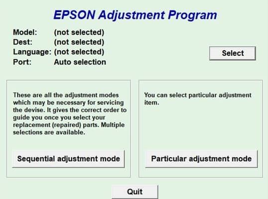 How to Use Epson L380 Adjustment Program