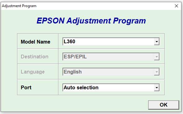 Epson L360 WIC Reset Key