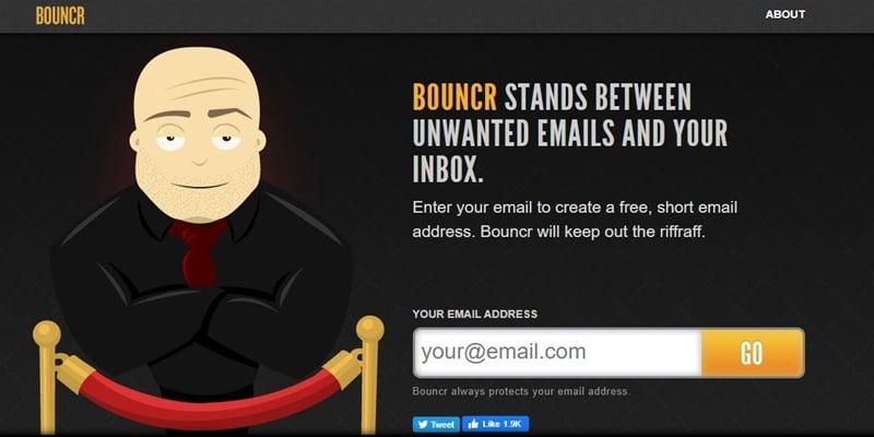 Bouncer - Temporary Email Address Generator